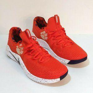 Nike Clemson Tigers Free TR8 Orange Trainers